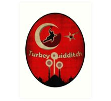 New Turkey Quidditch Design Art Print