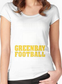 Education Is Important. Green Bay Football Is Importanter. Women's Fitted Scoop T-Shirt