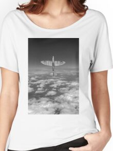 A cut above, black and white version Women's Relaxed Fit T-Shirt