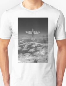 A cut above, black and white version Unisex T-Shirt