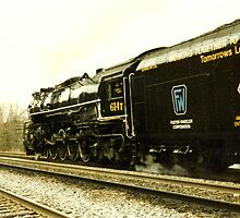 Ross Roland's 614T Eastbound Out Of Huntington by Fred Moskey