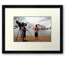 The BBC Alex Forsyth Live News Feed Framed Print