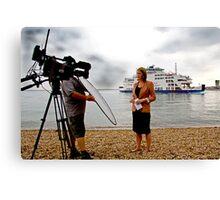 The BBC Alex Forsyth Live News Feed Canvas Print