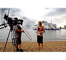 The BBC Alex Forsyth Live News Feed Photographic Print