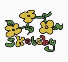 sketchy rasta flowers One Piece - Short Sleeve