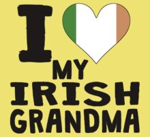 I Heart My Irish Grandma One Piece - Short Sleeve