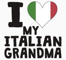 I Heart My Italian Grandma Baby Tee
