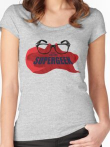 Super Geek Women's Fitted Scoop T-Shirt