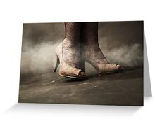 brown shoes Greeting Card