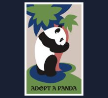 Fun retro adopt a panda Kids Tee