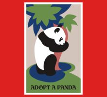 Fun retro adopt a panda One Piece - Short Sleeve
