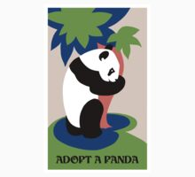 Fun retro adopt a panda One Piece - Long Sleeve