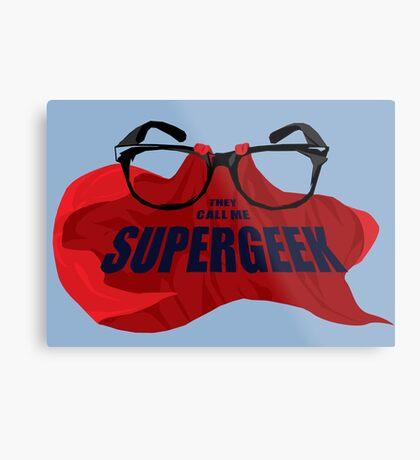 Super Geek Metal Print