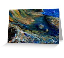 """detail """"East Point Cliffs"""" oil painting SATURNA ISLAND  Greeting Card"""