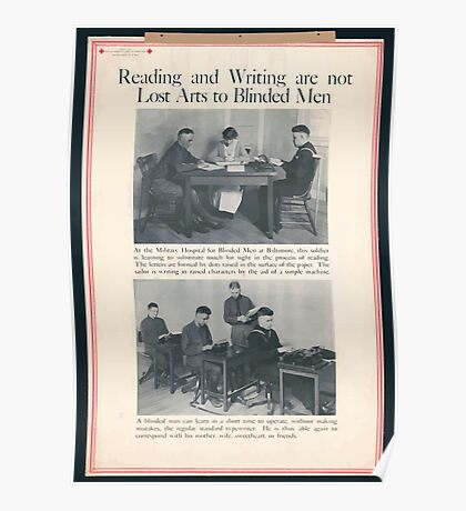 Reading and writing are not lost arts to blinded men Poster