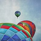 3 Balloons At Readington by Pat Abbott