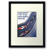 Wipeout Zone Framed Print