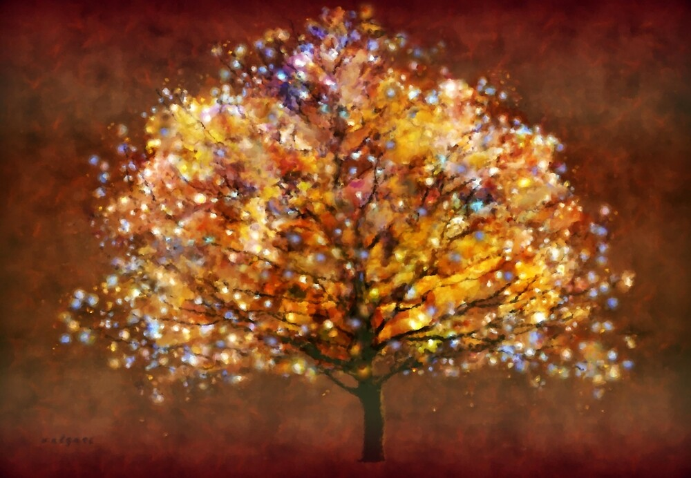 Starry tree'... by Valerie Anne Kelly