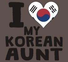 I Heart My Korean Aunt Baby Tee