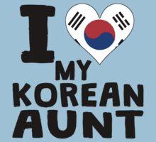 I Heart My Korean Aunt Kids Tee