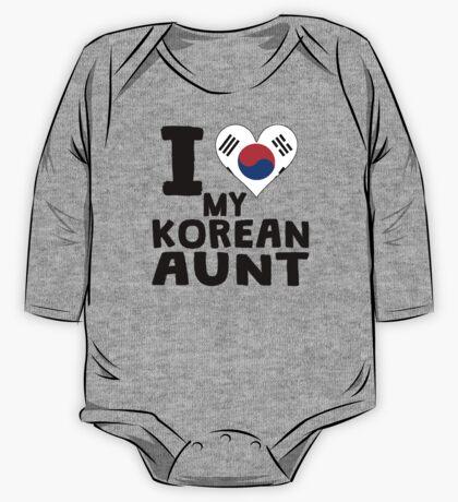 I Heart My Korean Aunt One Piece - Long Sleeve