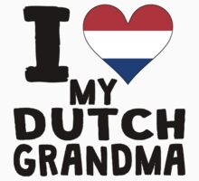 I Heart My Dutch Grandma Kids Tee
