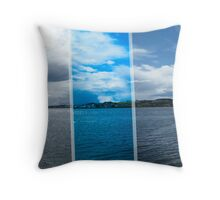 Broughty Ferry Castle and View of the River Tay  Throw Pillow