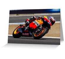 Casey Stoner at laguna seca 2012 Greeting Card