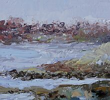 "detail ""Rainy Day By The Sea"" oil painting  VICTORIA BC by TerrillWelch"