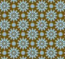 Brown And Blue -Abstract Stars Pattern by artonwear