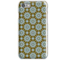 Brown And Blue -Abstract Stars Pattern iPhone Case/Skin