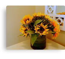 Sunflower Still Life   ^ Canvas Print