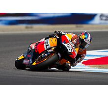 Dani Pedrosa at laguna seca 2012 Photographic Print
