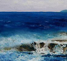"detail ""Salish Sea Three"" oil painting  MAYNE ISLAND  by TerrillWelch"