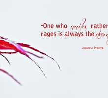 One Who Smiles Rather Than Rages Is Always The Stronger by Denise Abé