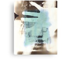 Film Strip, Newspaper & Hand Photogram Canvas Print