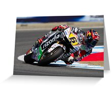 Stefan Bradl at laguna seca 2012 Greeting Card
