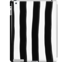 Black and White Paintbrush Stripes iPad Case/Skin