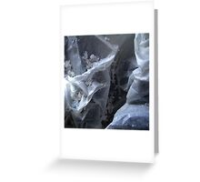 Winter in icy mountains Greeting Card