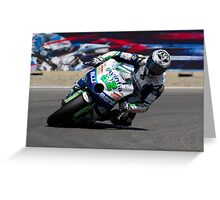 Ivan Silva at laguna seca 2012 Greeting Card