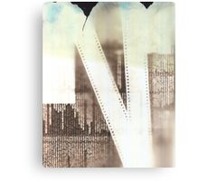 Film Strip & Newspaper Photogram Canvas Print