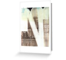 Film Strip & Newspaper Photogram Greeting Card