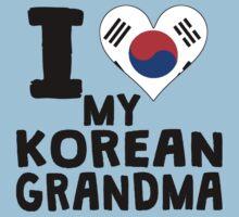 I Heart My Korean Grandma One Piece - Short Sleeve