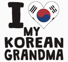 I Heart My Korean Grandma Kids Tee