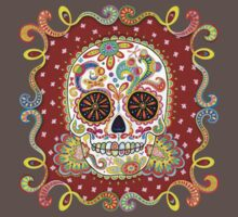 Colorful Day of the Dead Sugar Skull Shirt Kids Clothes