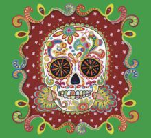 Colorful Day of the Dead Sugar Skull Shirt One Piece - Short Sleeve