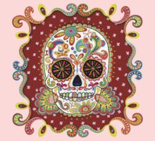Colorful Day of the Dead Sugar Skull Shirt One Piece - Long Sleeve