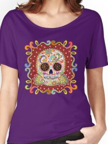 Colorful Day of the Dead Sugar Skull Shirt Women's Relaxed Fit T-Shirt