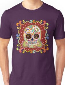 Colorful Day of the Dead Sugar Skull Shirt Unisex T-Shirt