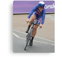 Kristen Armstrong - Starts The Women`s Individaul Time Trial - London 2012 Canvas Print